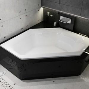 Eine sechseck - Badewanne würde super in Ihrem Bad wirken!