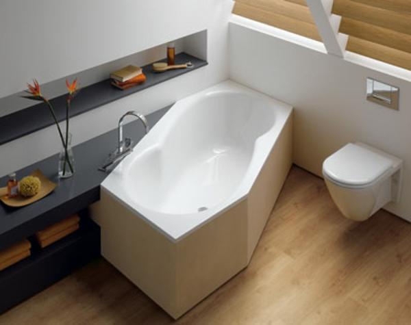 sechseck -badewanne - weiß und beige kombinieren