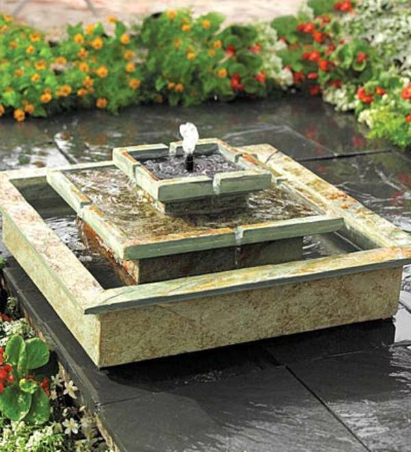 selbergemachter solar brunnen f r garten diy. Black Bedroom Furniture Sets. Home Design Ideas