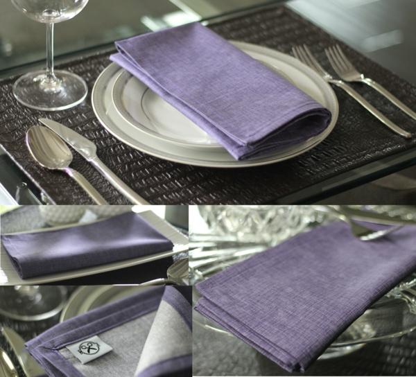 servietten-in-fliederfarben-drei-bilder-sehr geschmackvoll