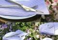 Servietten in Fliederfarben für ein zärtliches Ambiente!