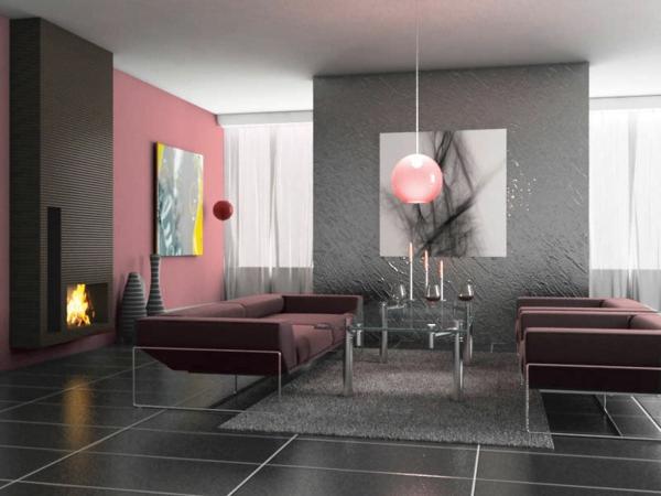silberne-wandfarbe-interessantes-wohnzimmer