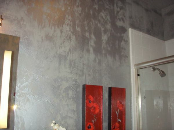 silberne wandfarbe 24 unglaubliche bilder. Black Bedroom Furniture Sets. Home Design Ideas