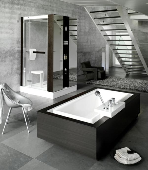 silberne-wandfarbe-schönes-badezimmer-dunkel
