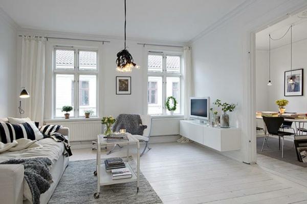 skandinavisches-design-für-ein-schickes-wohnzimmer- grau und weiß