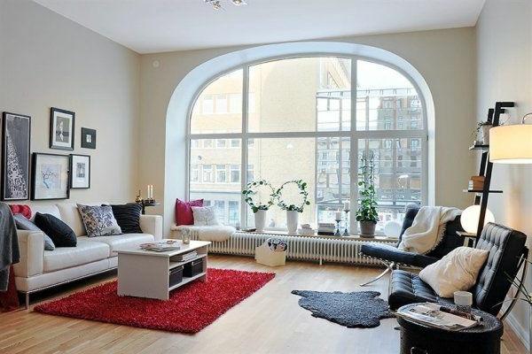Skandinavisches Design Vom Eleganten Und Originellen Wohnzimmer Grosses Fenster