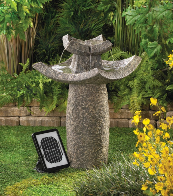 solar springbrunnen mit einer taube f r den garten. Black Bedroom Furniture Sets. Home Design Ideas