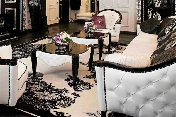 Stilvolle Wohnzimmer Einrichtung Von Mantellassi Schwarz Weiß