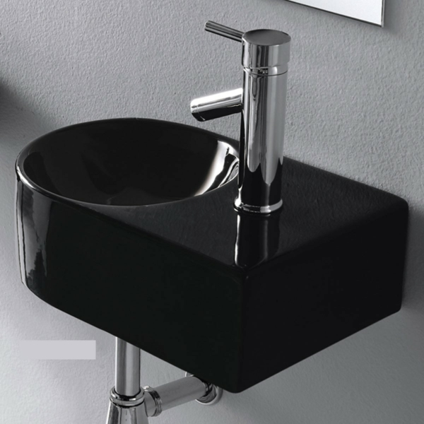 schwarzes waschbecken f r das badezimmer. Black Bedroom Furniture Sets. Home Design Ideas