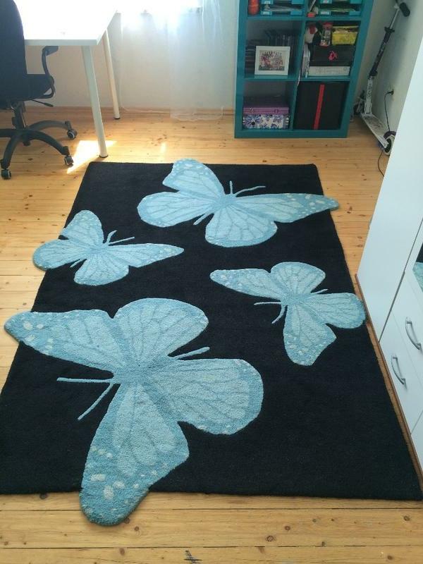 Kinderteppich schmetterling lila  Teppich mit Schmetterling - Motiven - 38 Modelle! - Archzine.net