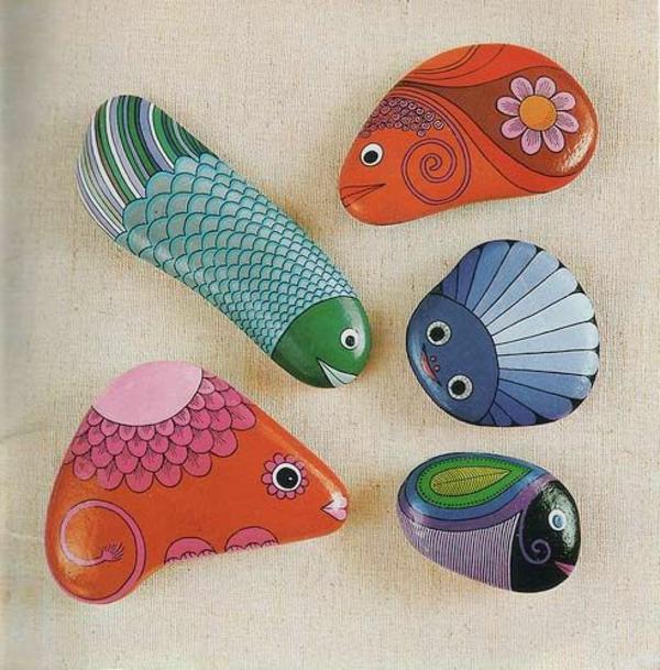 tolle-bilder-auf-steinen-dekoidee-fische