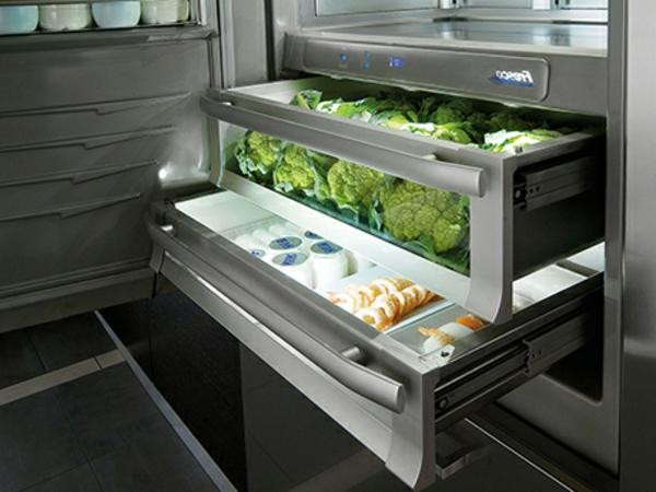 trendige-Kühlschränke-mit-Schubladen-Küche-Idee