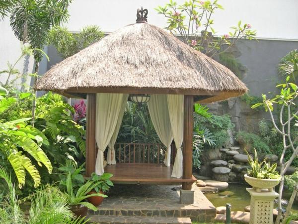 Gartenlaube Gestalten ? Flashzoom.info Garten Ideen Tropisch Exotisch Bilder