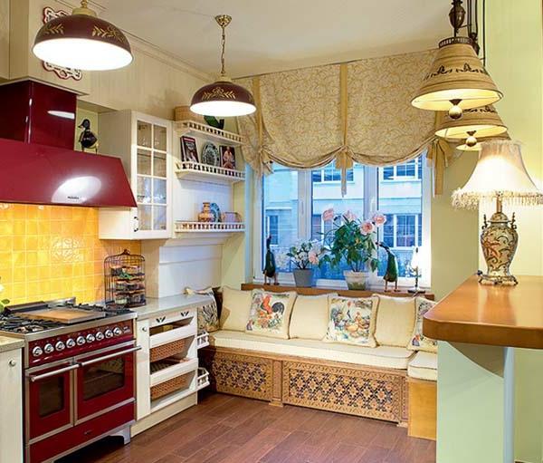 vintage- design möbel-im russischem-stil-mit-vielen-Lampen