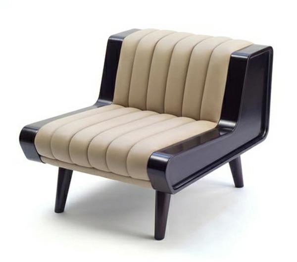 vintage- design möbel-retro-sofa-im-Beige-und-schwarz