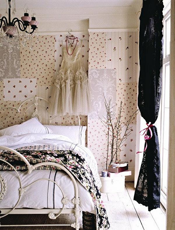 vintage- design möbel-romantisches Schlafzimmer-helles-Frauen-Schlafzimmer.