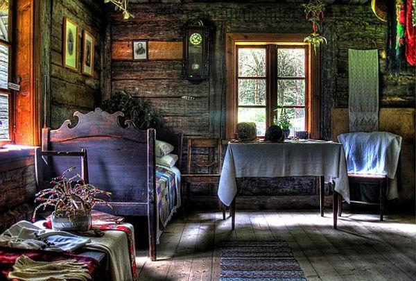 vintage- design möbel-schatten-im-grau-violett