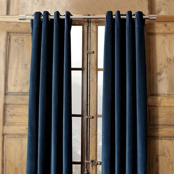 gardinen samt blau pauwnieuws. Black Bedroom Furniture Sets. Home Design Ideas