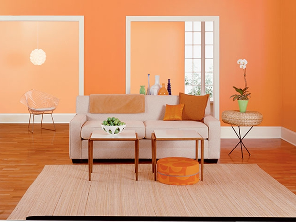 emejing wohnzimmer farbe orange pictures. Black Bedroom Furniture Sets. Home Design Ideas