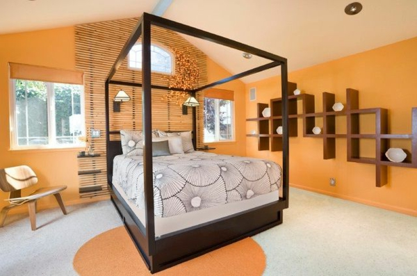 Geschickt Schlafzimmer Orange Grau Gemälde