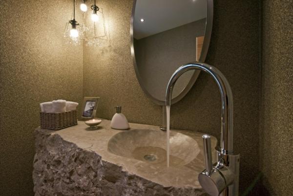 20 ideen f r waschbecken aus naturstein. Black Bedroom Furniture Sets. Home Design Ideas
