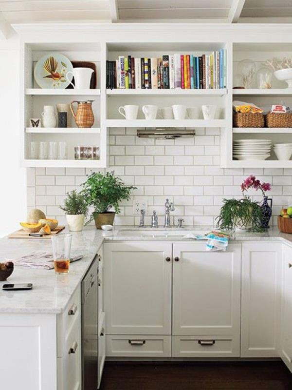 weiße-Küche-einrichtungsideen-kleine-küche-ideen
