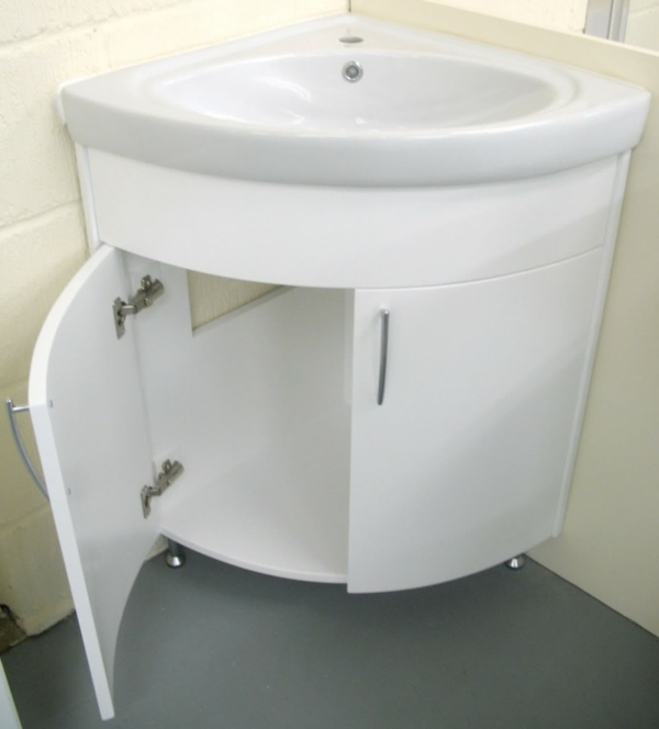 SMALL BATHROOM VANITY CABINET AND SINK WHITE  PE1612W NEW