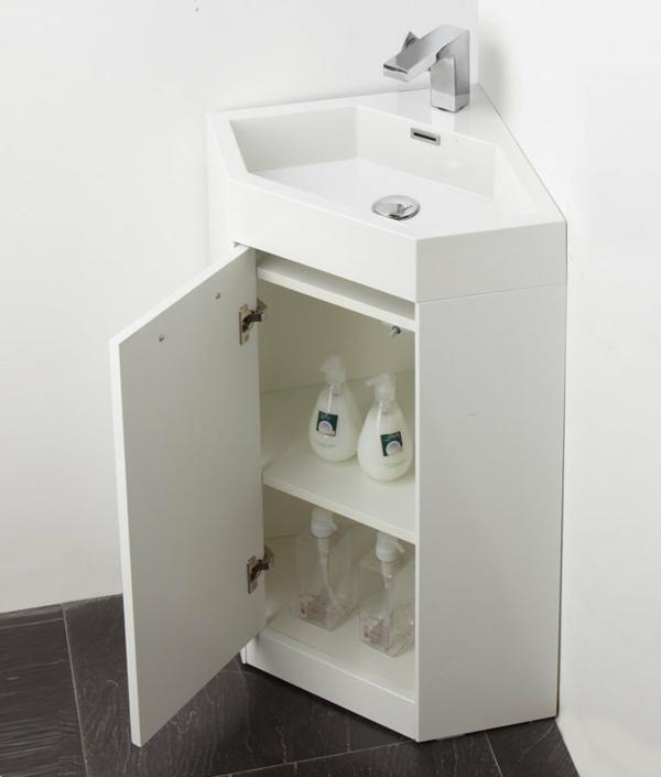Eckwaschbecken mit Unterschrank fürs Badezimmer! - Archzine.net