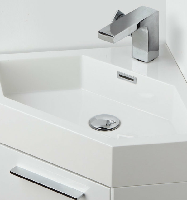 weißes-Eckwaschbecken-mit-Unterschrank-Glanzoberfläche