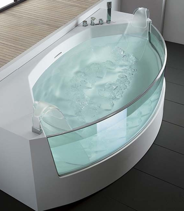 Badewanne Für Kleines Bad - 22 Schöne Ideen - Archzine.net Designer Badewannen Moderne Bad