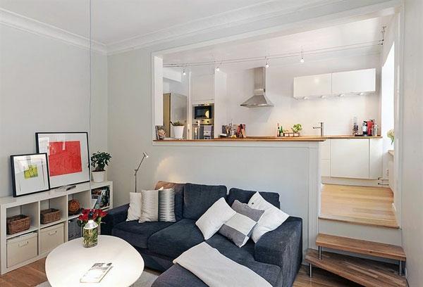 wohnideen-für- kleine-wohnung-kleines-wohnzimmer-mit-einem-sofa