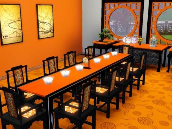 wohnung-dekorieren-orange-esszimmer