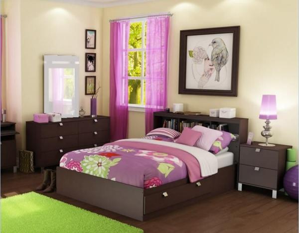 wohnung-dekorieren-schlafzimmer-in-grün-und-pink