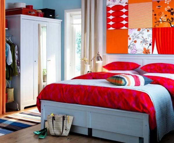 wohnung-dekorieren-schlafzimmer-in-grellen-farben