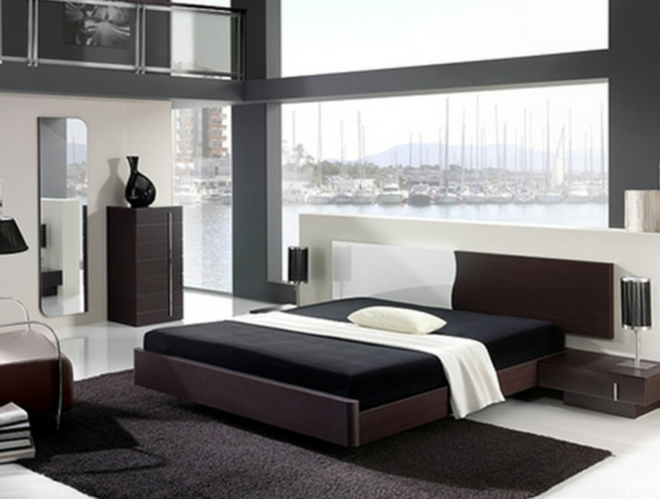 wohnung-dekorieren-schlafzimmer-in-weiß-und-schwarz