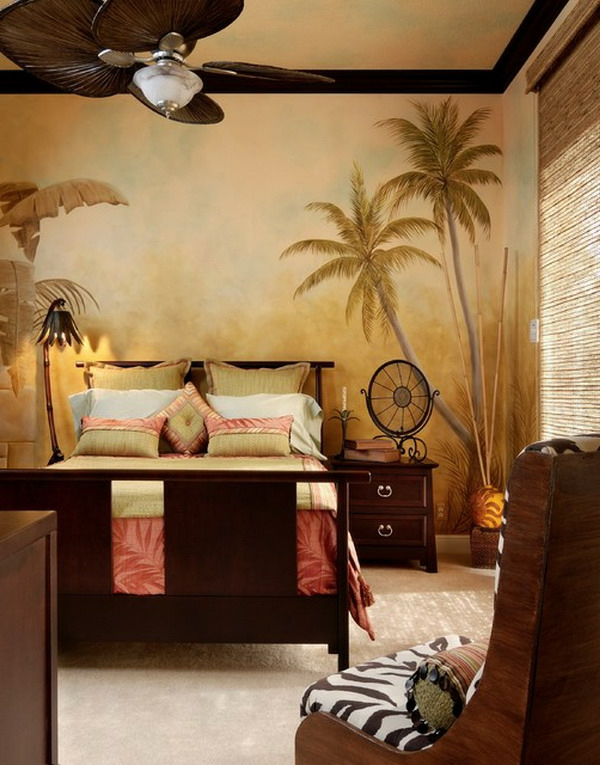wohnung-dekorieren-schlafzimmer-tropische-atmosphäre