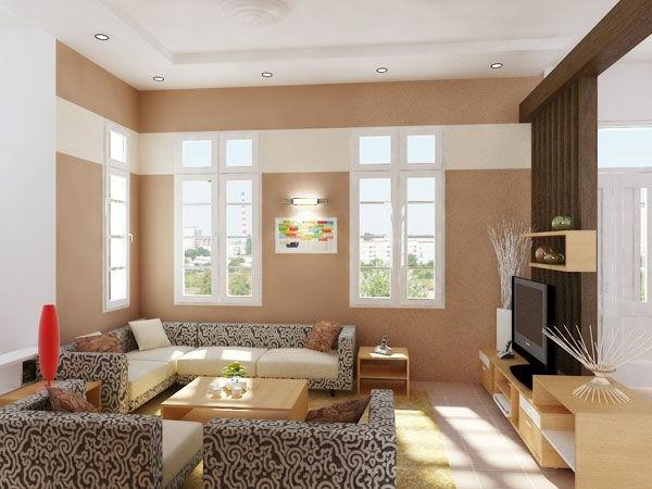 wohnung dekorieren kreative vorschlage - Peinture Salon Beige Et Marron