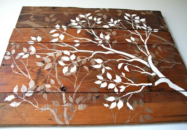Originelle dekoration aus holzpalleten for Wanddeko balkon