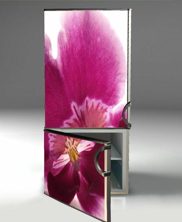 wunderbare-Aufkleber-für-Kühlschrank-Blume-in-Rosa