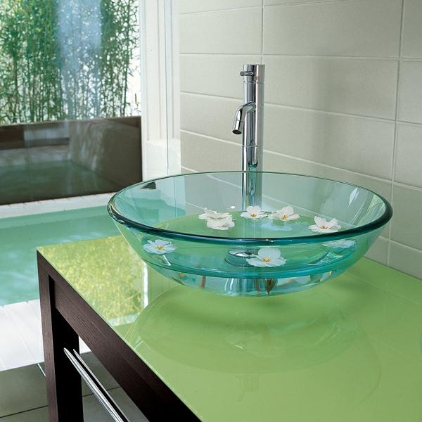 Rundes Waschbecken für Ihr Badezimmer! - Archzine.net | {Waschbecken rund glas 93}