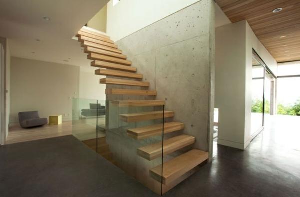 freitragende treppe coole ideen. Black Bedroom Furniture Sets. Home Design Ideas