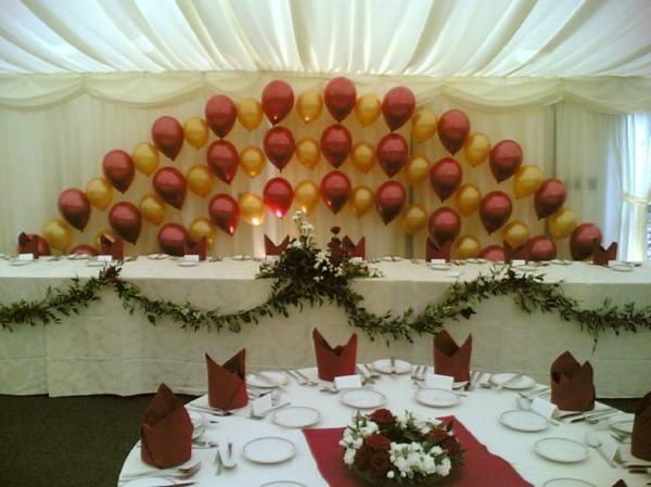 wunderschöne-ballon-deko - für hochzeit