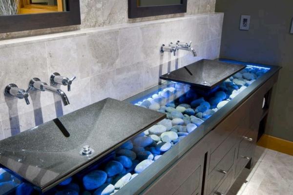 Moderne badezimmermöbel doppelwaschbecken  20 Ideen für Waschbecken aus Naturstein! - Archzine.net