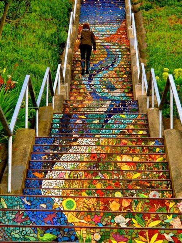 Außentreppe-wunderbare-Art-Straßenart