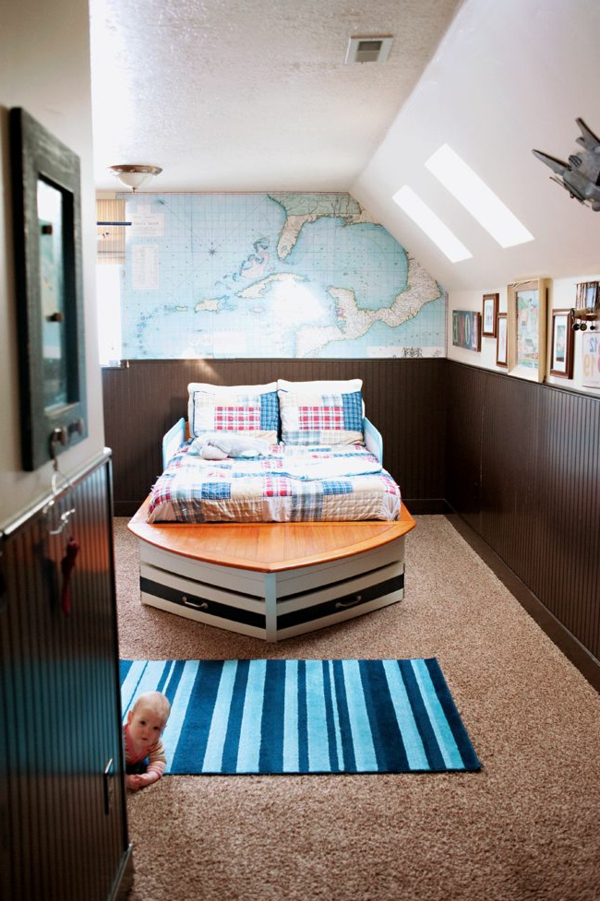 Außergewöhnliches-Kinderbett-Boot