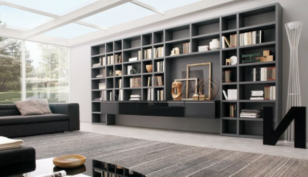 praktisches b cherregal f r zuhause. Black Bedroom Furniture Sets. Home Design Ideas