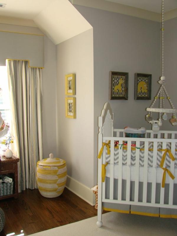 Babyzimmer-Dekoration-Bilder-an-der-Wand