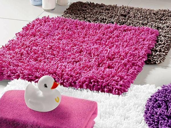 Badteppiche-pink-Cotton--pink-modern-braun