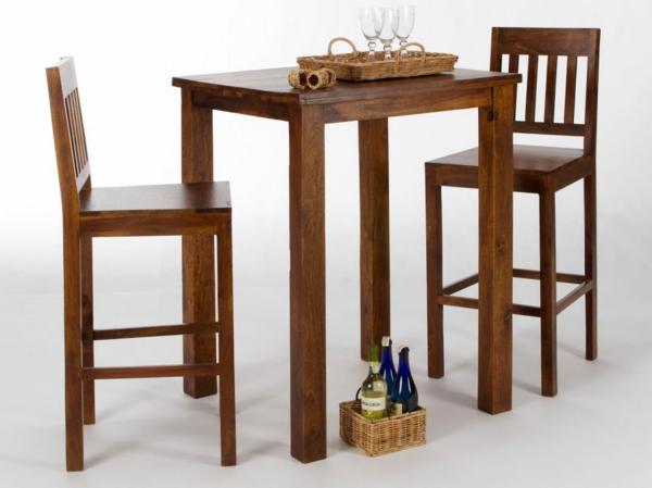 bartisch aus holz effektvoll und klassisch On bartisch mit stühlen