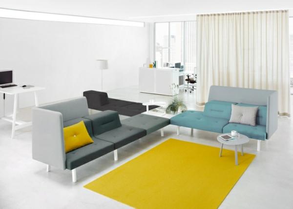 Beschprechungsraum-Design-FArben-Gelber-Teppich-modulare-Möbel